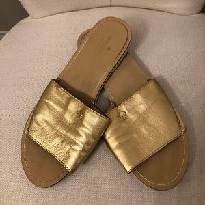Kate Spade Metallic Imperiale Slide Sandals